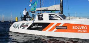 Jean-Pierre Balmes skipper LIZmer à bord de son catamaran Outremer 4X